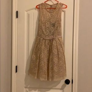 Lace overlay dress (size 6)